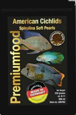 South American cichlid spirulina pearls 230gr 500ml