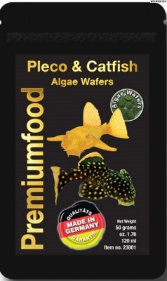 Pleco & Catfish Algae Wafers  50g,120ml.
